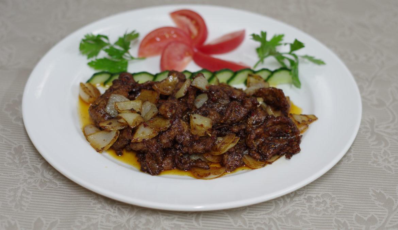 Говядина с шашлычным вкусом 孜然牛肉