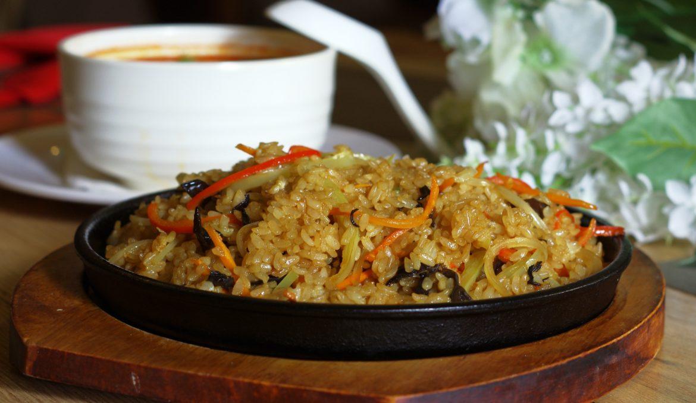 Рис на тебане с курицей