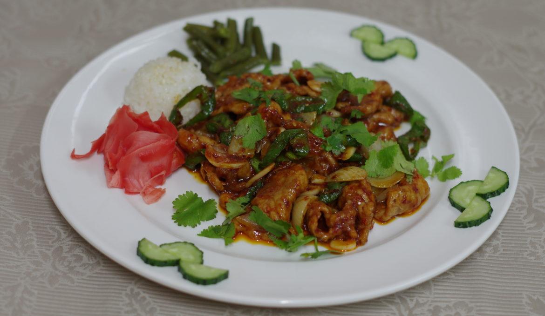 Говядина в чили пасте 韩式酱汁牛肉