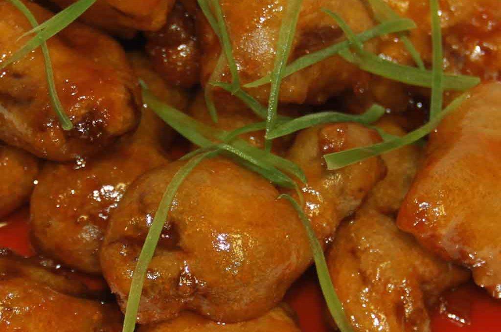 Баранина в кисло-сладком соусе 锅包羊肉