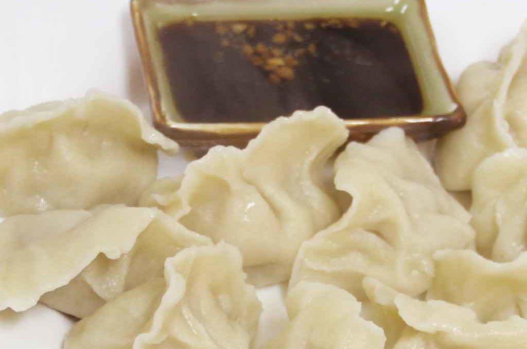Пельмени вареные 水饺